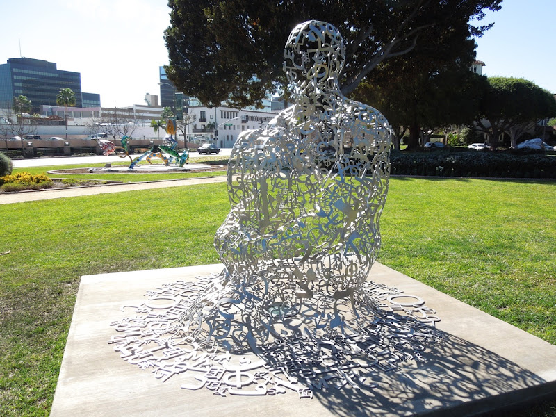 Endless V Jaume Plensa sculpture Beverly Hills