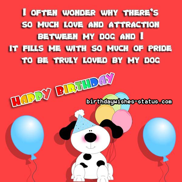 Birthday Wishes for Dogs