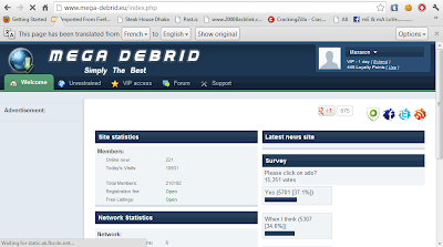 Mega-Debrid.eu premium accounts 23 september 2012 With Proof