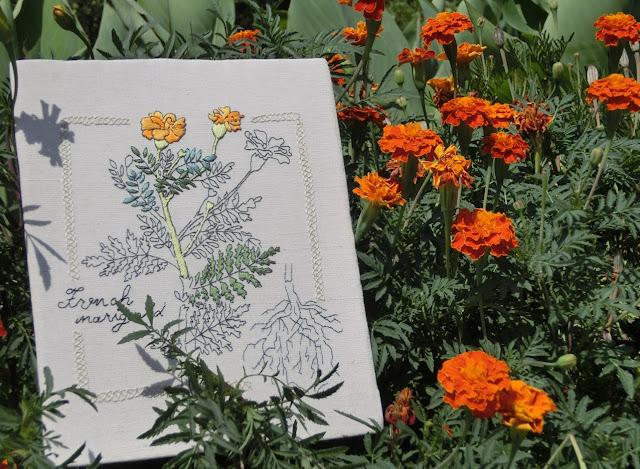 Embroidery of Natural Herbs, Kazue Sakurai, японская вышивка, вышивка по японским книгам