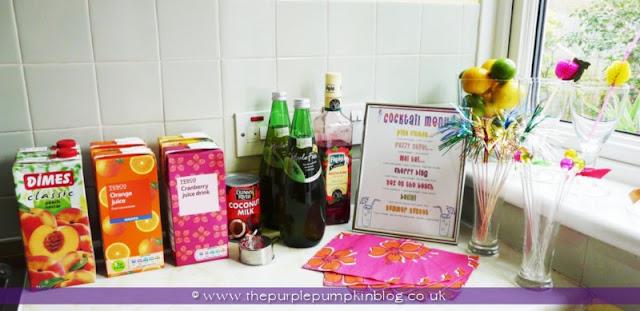 Fruity Cocktail Bar for a Hen Party/Bachelorette at The Purple Pumpkin Blog