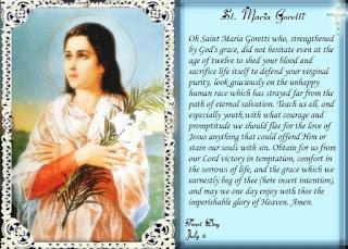 Saint Maria Goretti Prayer