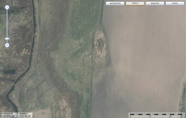 grodzisko pawłowice na geoportalu
