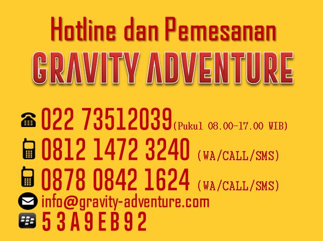 hotline pemesanan paket rafting bandung gravity adventure