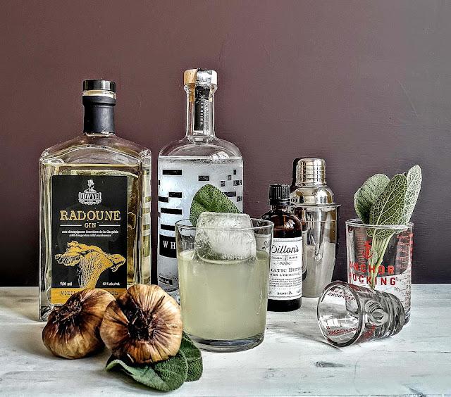 radoune,gin-quebecois,recette-cocktail,radoune-veilli-en-barique,madame-gin,ail-noir-de-lile