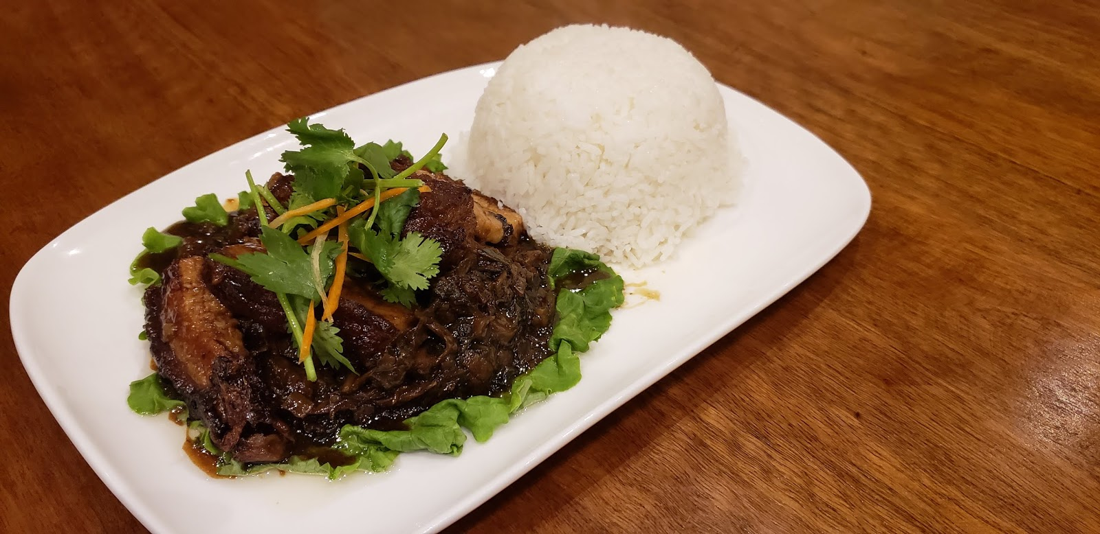 Pork with Dried Vegetable on Rice