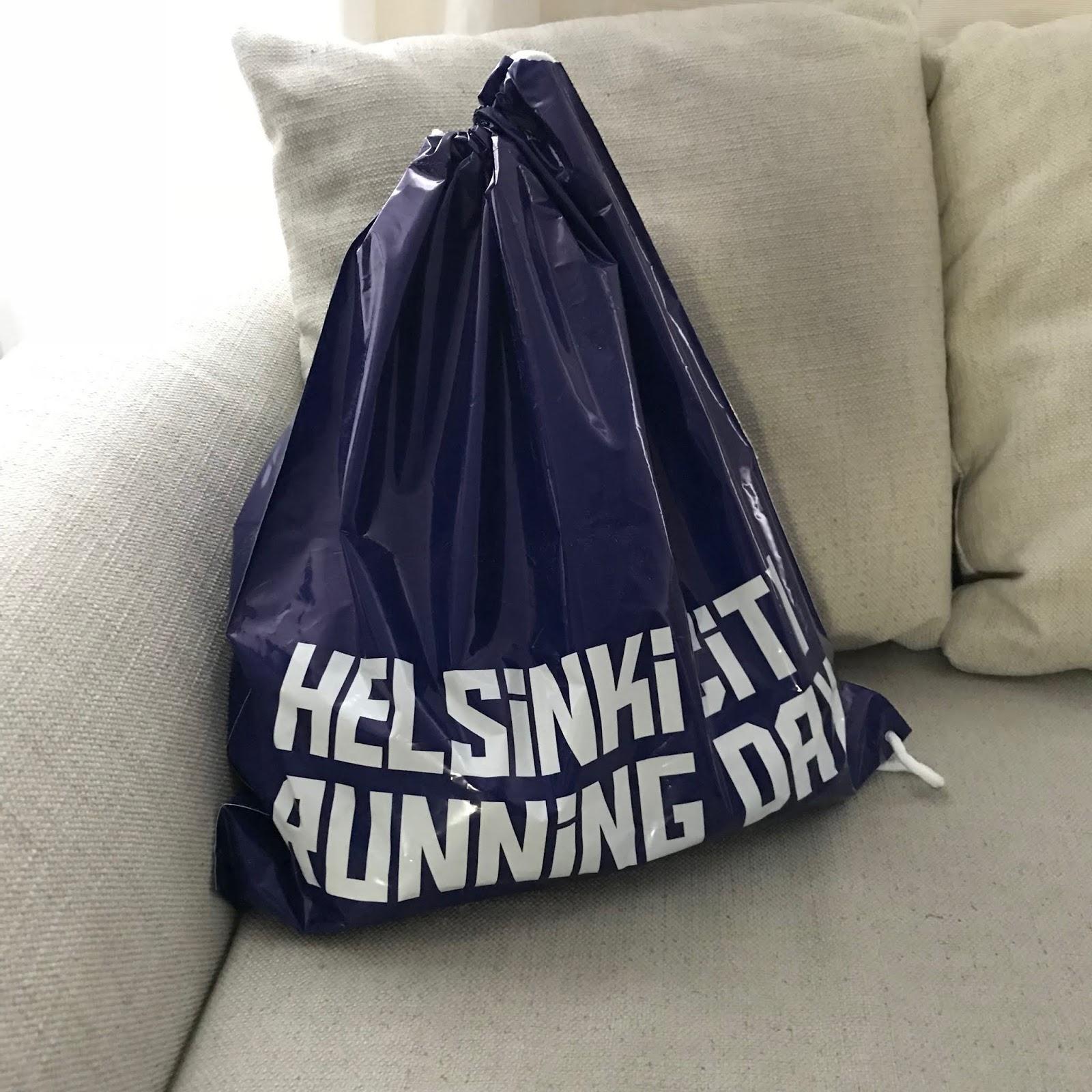 Helsinki City Running Day varustepussi