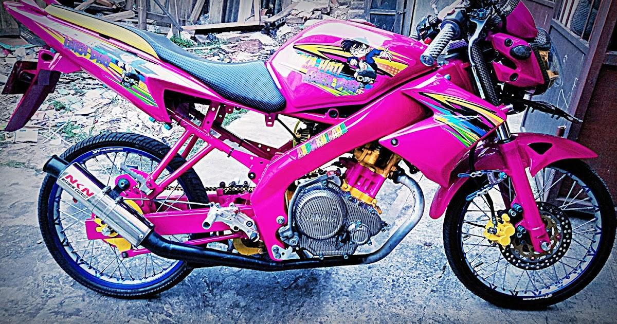 Kabar Modifikasi Koleksi 66 Modifikasi Motor Vixion Warna Pink