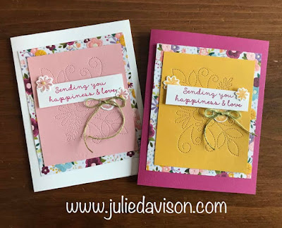 This or That? Stampin' Up! Needle & Thread Card Makeover ~ 2019 Occasions Catalog ~ www.juliedavison.com