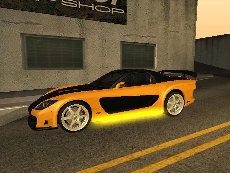 GTA Mods: SHARAH´S Mazda RX7 Tokyo drift GTA San Andreas