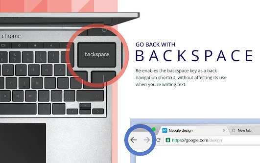 Estensione Chrome per tornare indietro con il tasto backspace