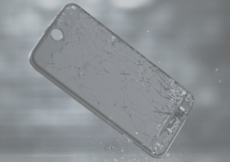 Gambar Ilustrasi Layar Kaca Smartphone Otomatis Melakukan Penyembuhan