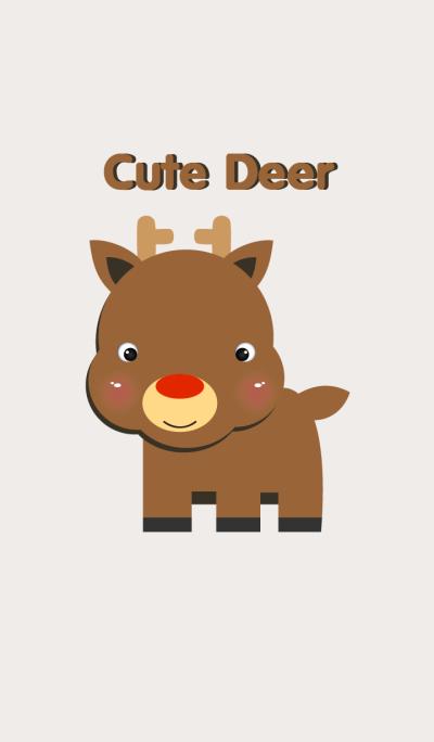 Simple Cute Deer theme