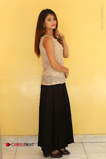 Tollywood Upcoming Actress Arthi Stills in Black Skirt at Plus 1 Movie Trailer Launch  0135.JPG