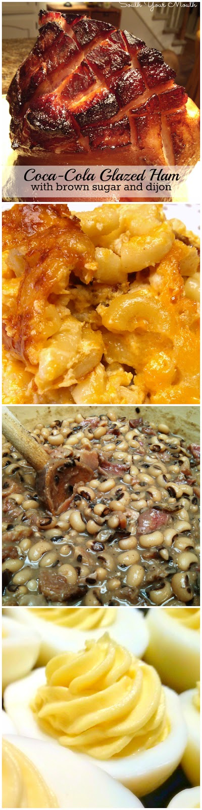 South your mouth southern christmas dinner recipes southern christmas dinner recipes coca cola glazed ham macaroni cheese black forumfinder Choice Image