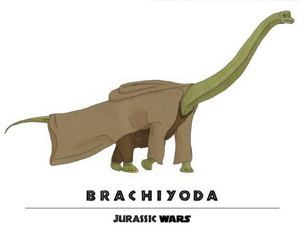 Yoda + Brachiosaurus = Brachiyoda