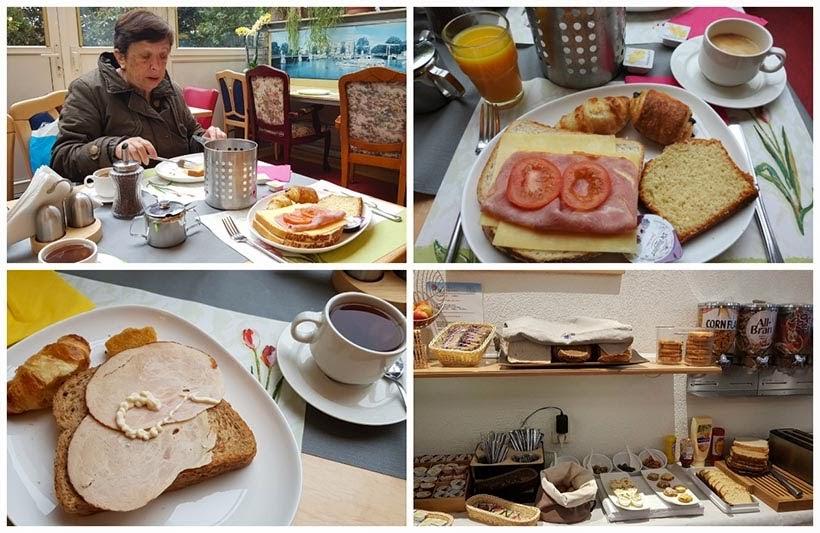 Café-da manhã no hotel Júpiter- Diário de Bordo - 2 dias em Amsterdam
