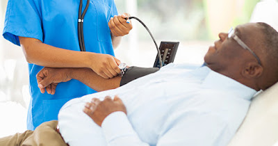African American man with high blood pressure
