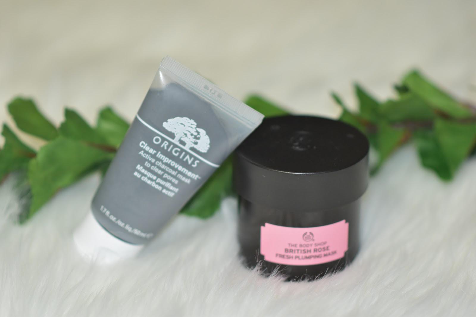 Origins Clear Improvement_The Body Shop British Rose Mask_AimforGlam