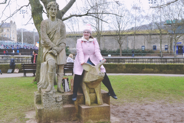 Pig statue in Bath