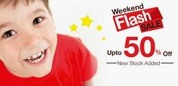 Babyoye Flat 50% Flash Sale:  Baby Clothing | Footwear | Diapers | Skincare & more