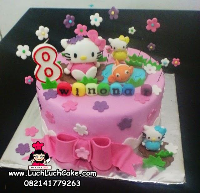 Luch Luch Cake Kue Tart Ulang Tahun Anak Hello Kitty