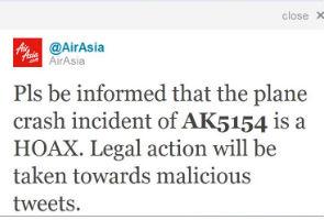 AirAsia AK 5154 terhempas cetus suasana panik.