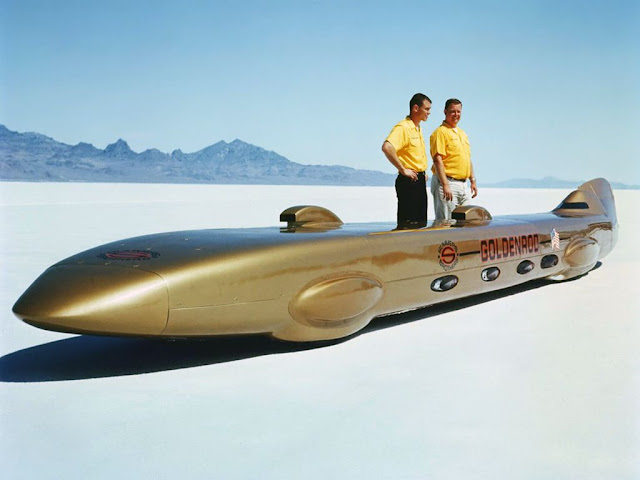 Goldenrod classic land speed record car