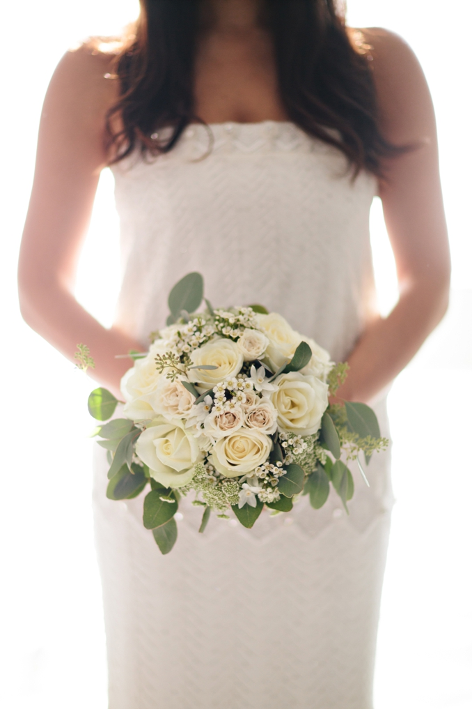 Gorgeous white and green bridal bouquet photo by STUDIO 1208