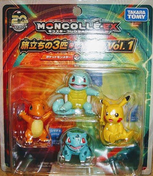 Unova Starter Figures Tomy Pokemon