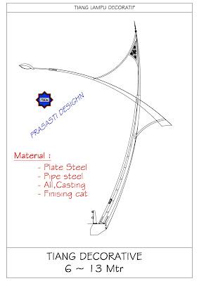 Produksi Tiang Lampu Taman Antik Jalan Pju Dekoratif Dan Oktagonal