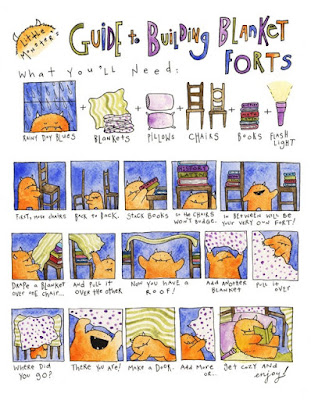 Little monsters blanket fort comic a guide to blanket forts