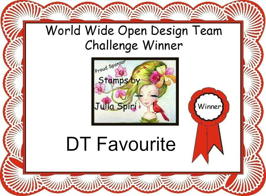 I Won a DT Favourite at World Wide Open Design Team Challenge