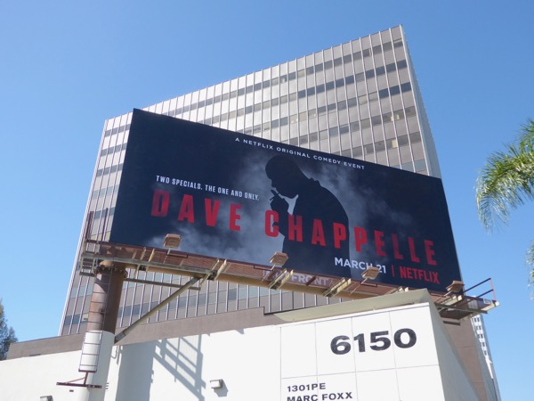 Dave Chapelle Netflix comedy special billboard