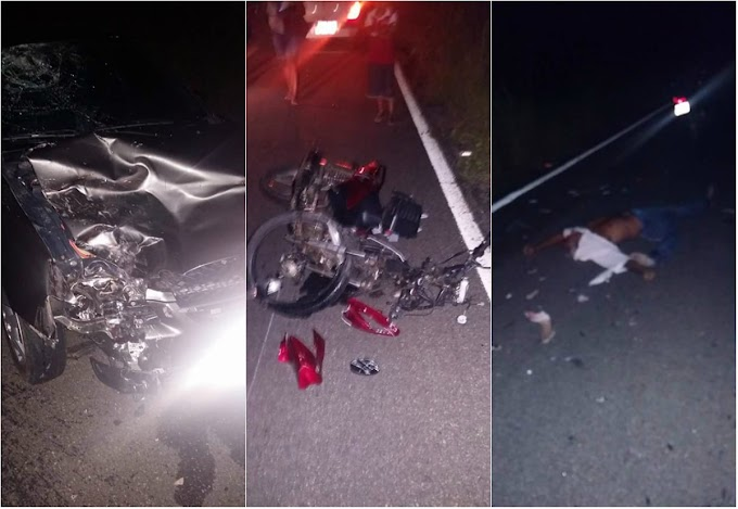 Colisão entre motoneta cinquentinha e corsa, em Quixadá, mata agricultor de 41 anos