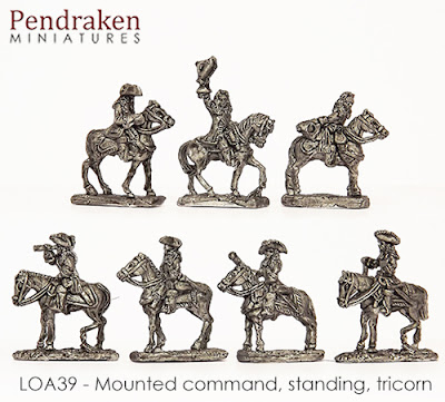 LOA39   Mounted Command, standing, tricorn (7 figures)