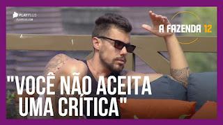 A Fazenda 12 – Lipe dá conselhos a Biel – Peões falam sobre a postura de Cartolouco e Jojo