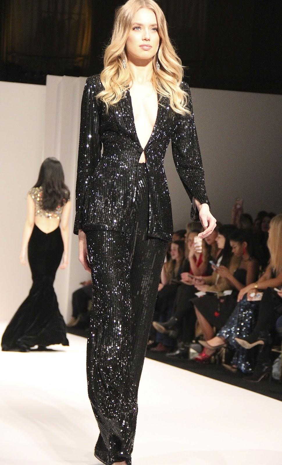 bc52de67fae fashionably petite  Sherri Hill Fall 2018 at New York Fashion Week