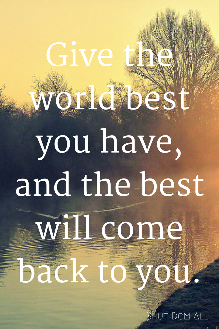 give the best and best come back quote