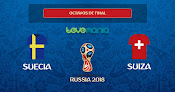 Suecia derrota 1-0 a Suiza y se mete en cuartos de final