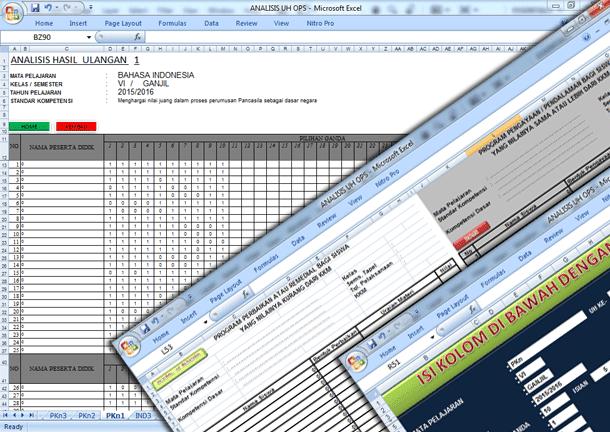Aplikasi Analisis Nilai Ulangan Harian (UH) UTS UKK SD Dilengkapi Program Remedial Otomatis