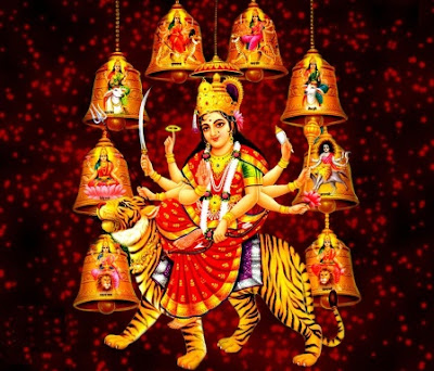 navratri photo of Durga mata with all 9 goddess