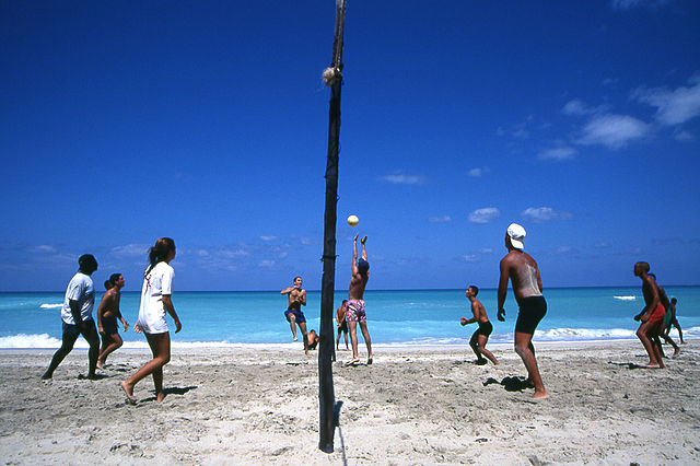 Beach Volleyball at Varadero Beach, Cuba