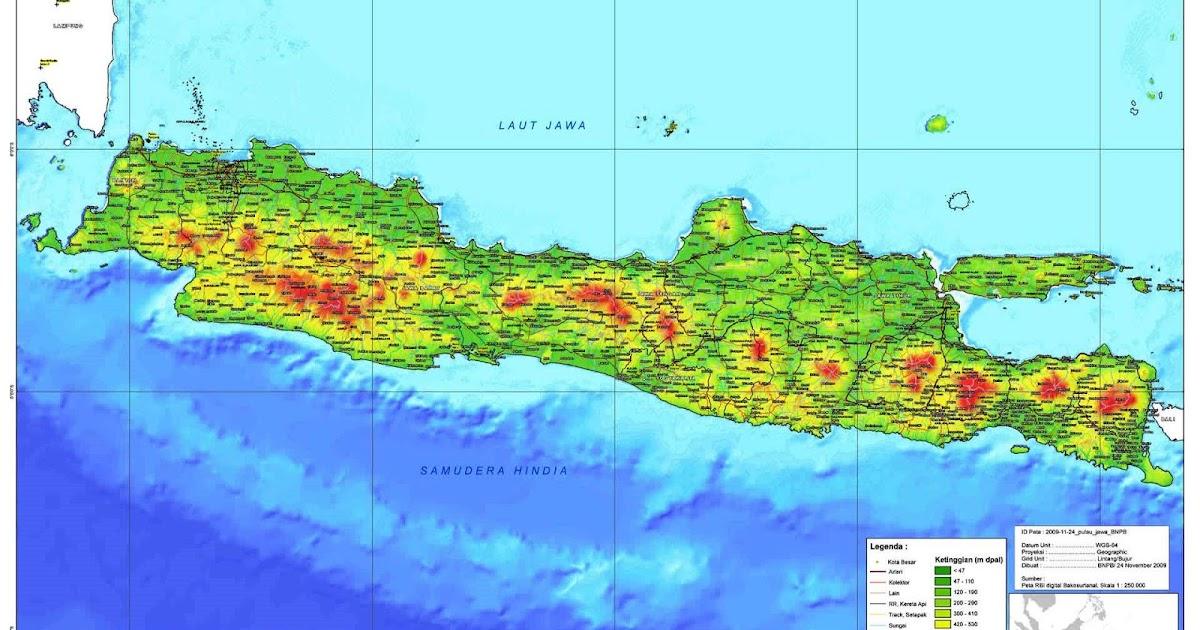 Peta Kota: Peta Pulau Jawa