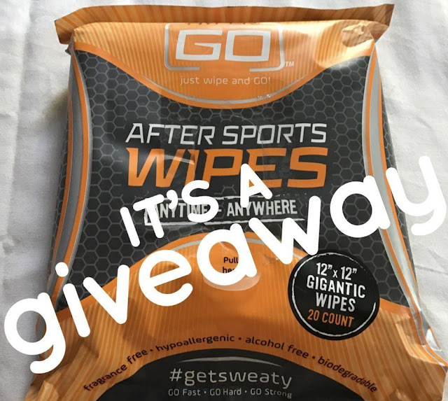 hyper go wipes after sports workouts running clean up shower quick giveaway win enter