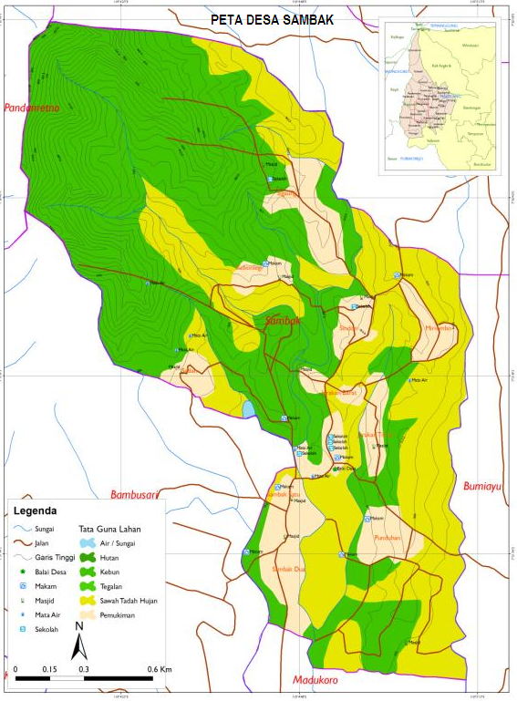 Peta Desa Sambak Kecamatan Kajoran Kabupaten Magelang ...