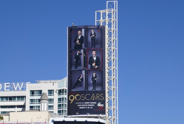 Jimmy Kimmel 90 Oscars billboard