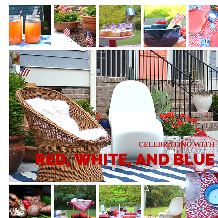 celebrating with red, white, and blue for July 4th