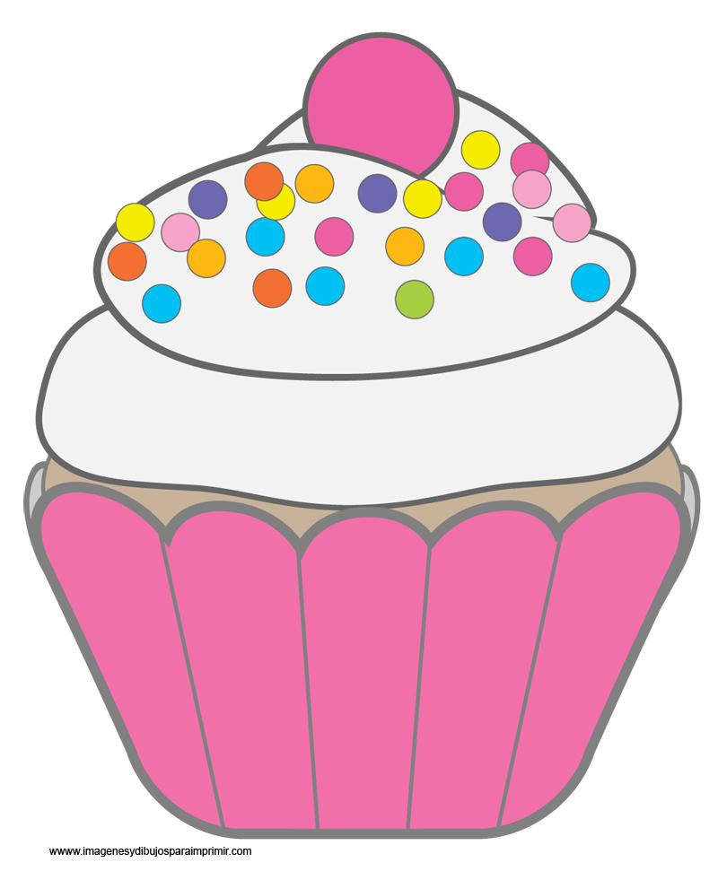 Dibujos De Cupcakes Imagenes Y Dibujos Para Imprimir