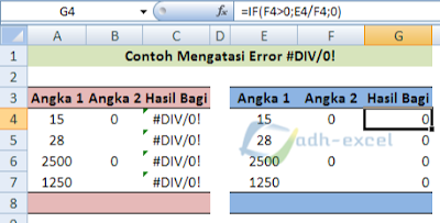 solusi menyelesaikan error #DIV/0!